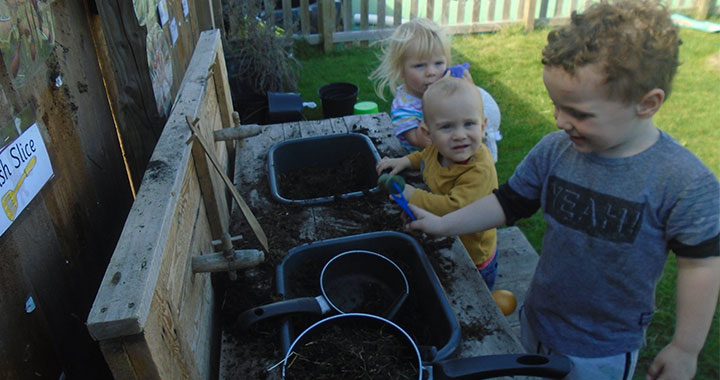 We welcome our much anticipated new mud kitchen